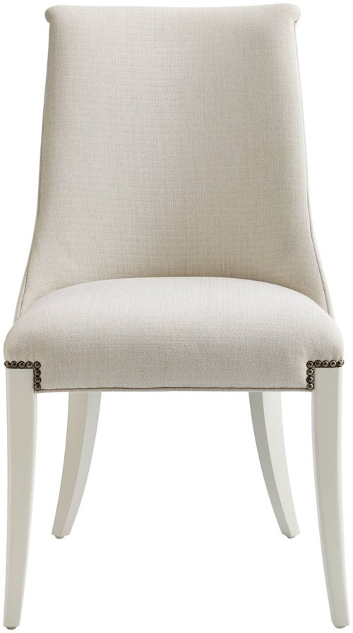 Stanley Furniture Coastal Living Oasis Wilshire Host Chair with Nailhead Trim