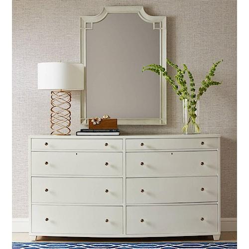 Stanley Furniture Coastal Living Oasis Ocean Park Dresser & Silver Lake Vertical Mirror