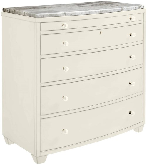 Stanley Furniture Coastal Living Oasis Ocean Park Bachelor's Chest w/ Lay-On Granite Top & Pull-Out Shelf