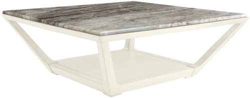 Stanley Furniture Coastal Living Oasis Square Poseidon Cocktail Table w/ Lay-On Granite Top