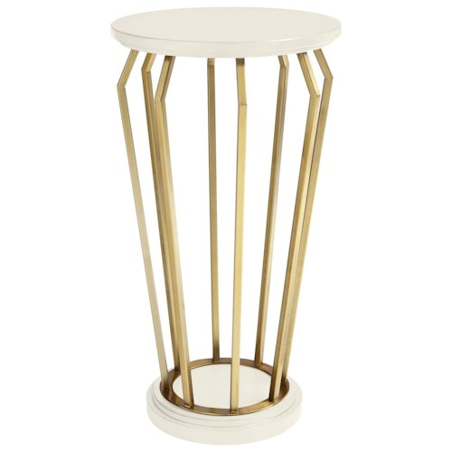 Stanley Furniture Coastal Living Oasis Manzanita Martini Table with Brass Finish Accents