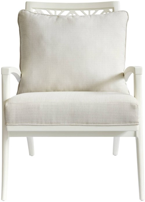Stanley Furniture Coastal Living Oasis Catalina Accent Chair with Fretwork Back Design