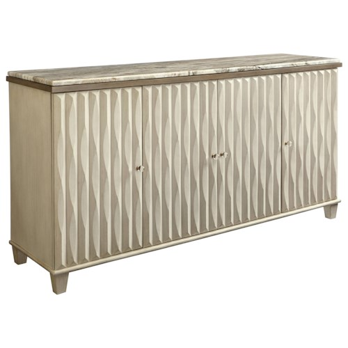 Stanley Furniture Coastal Living Oasis Tides Buffet with Lay-On Granite Top