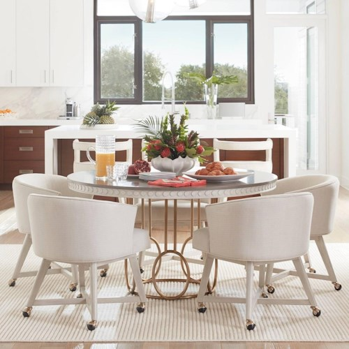 Stanley Furniture Coastal Living Oasis 5-Piece Venice Beach Table Set w/ Carlyle Club Chairs