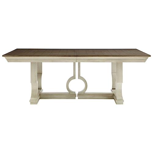 Stanley Furniture Coastal Living Oasis Moonrise Pedestal Dining Table