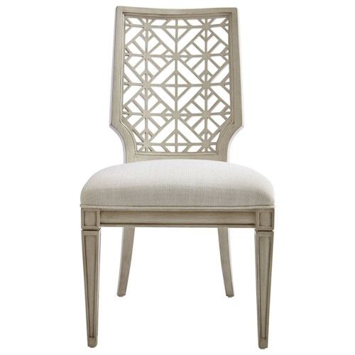 Stanley Furniture Coastal Living Oasis Catalina Side Chair with Contemporary Geometric Backrest