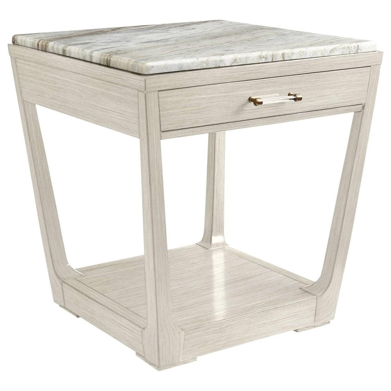 Stanley Furniture Coastal Living OasisMeridian Square Lamp Table W/ Granite  Top ...