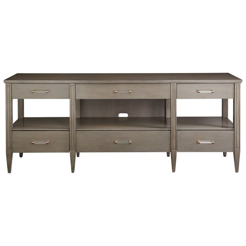 Stanley Furniture Coastal Living Oasis Mulholland Media Console with Drop-Down Drawer