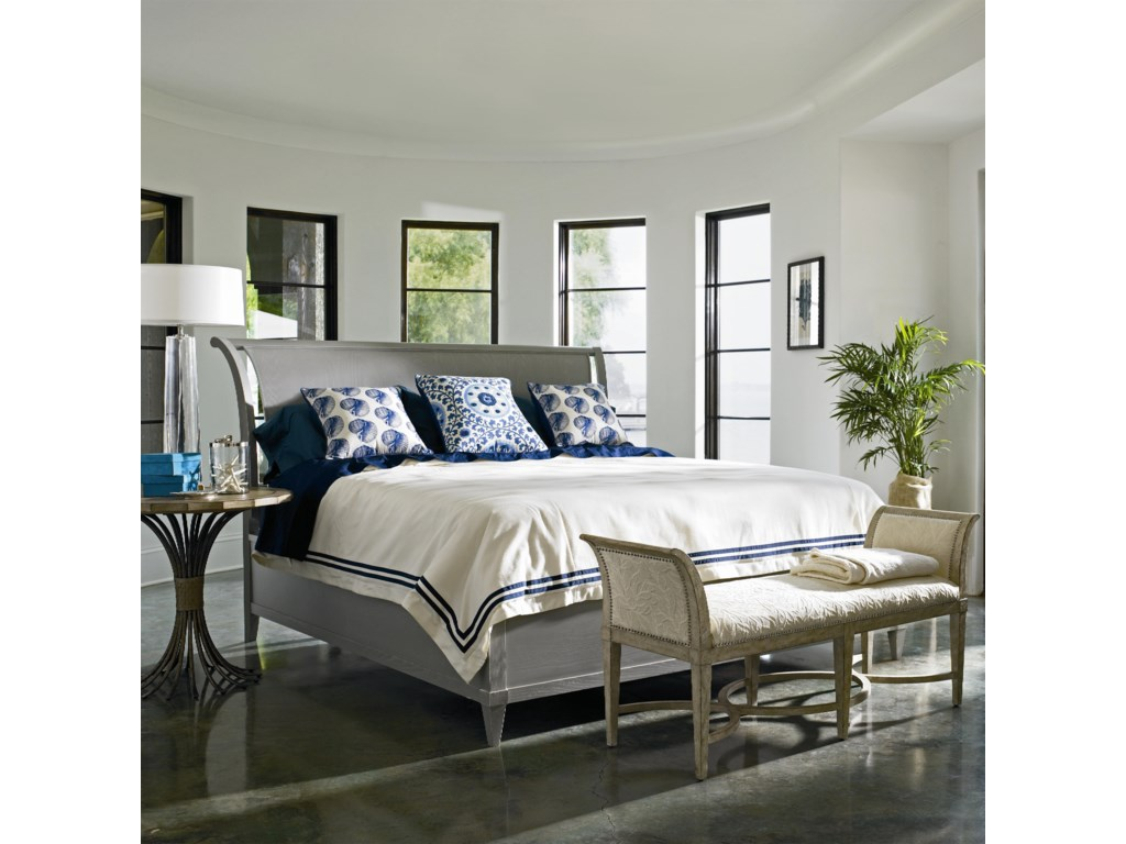 Shown with Sunrise Sanctuary Sleigh Bed and Eddy's Landing Lamp Table