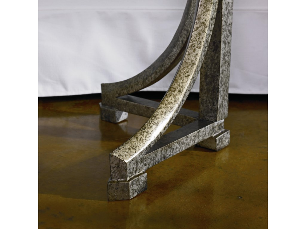 Sophisticated Antiqued Pewter Legs Showcase a Marvelous Elegance