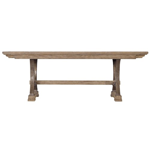 Stanley Furniture Coastal Living Resort Shelter Bay Table with Pewter Pedestals and 2 Bread Board Leaves