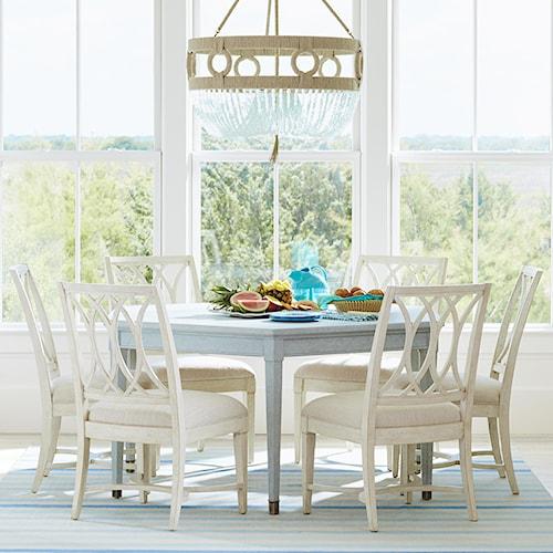 Stanley Furniture Coastal Living Resort 7 Piece Soledad Promenade Table and Hertiage Coast Side Chair Set