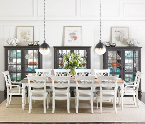 Stanley Furniture Coastal Living Retreat 11-Piece Rectangular Leg Table Set