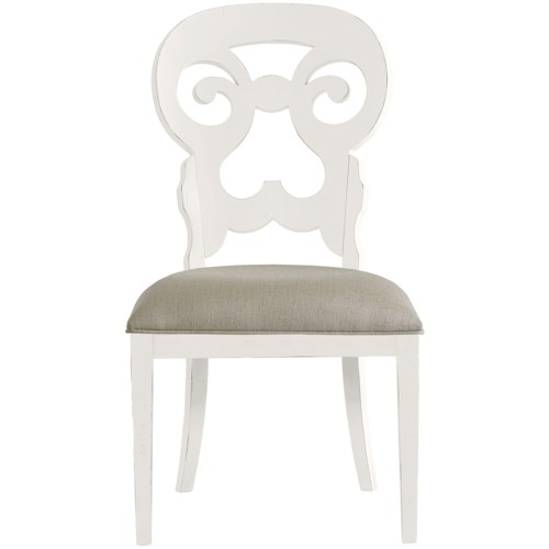 Stanley Furniture Coastal Living Retreat Wayfarer Side Chair with Upholstered Seat
