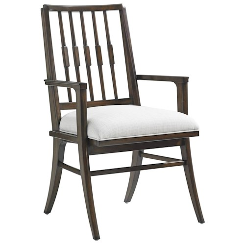 Stanley Furniture Crestaire Savoy Arm Chair with Klismos Legs