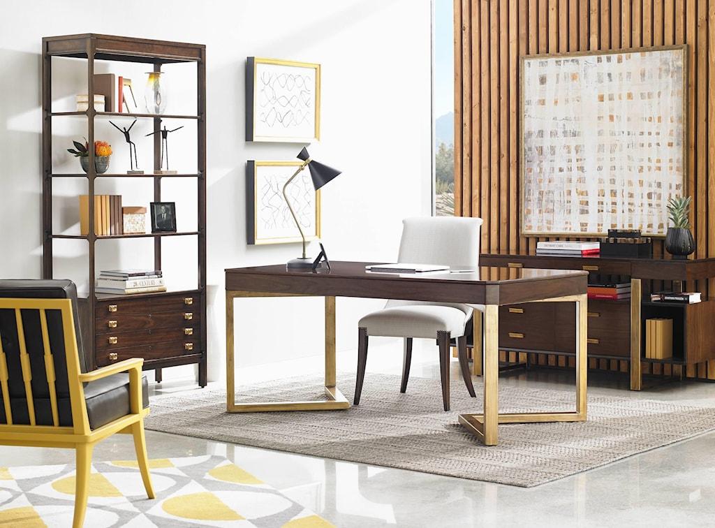 Stanley Furniture Crestaire Mid Century Modern Welton Bookcase