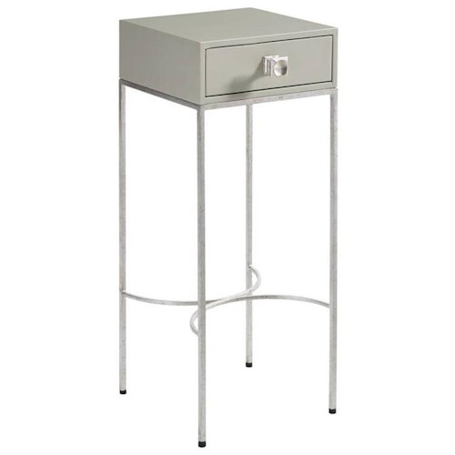 Stanley Furniture Crestaire Sunset Table with Drawer & Steel Legs