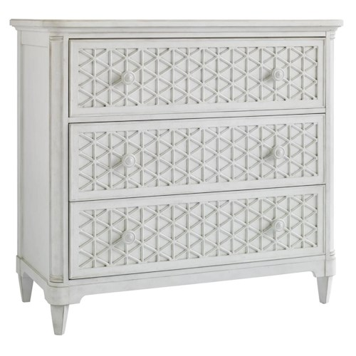 Stanley Furniture Cypress Grove  Cottage Style Media Chest with Fold Down Drawer