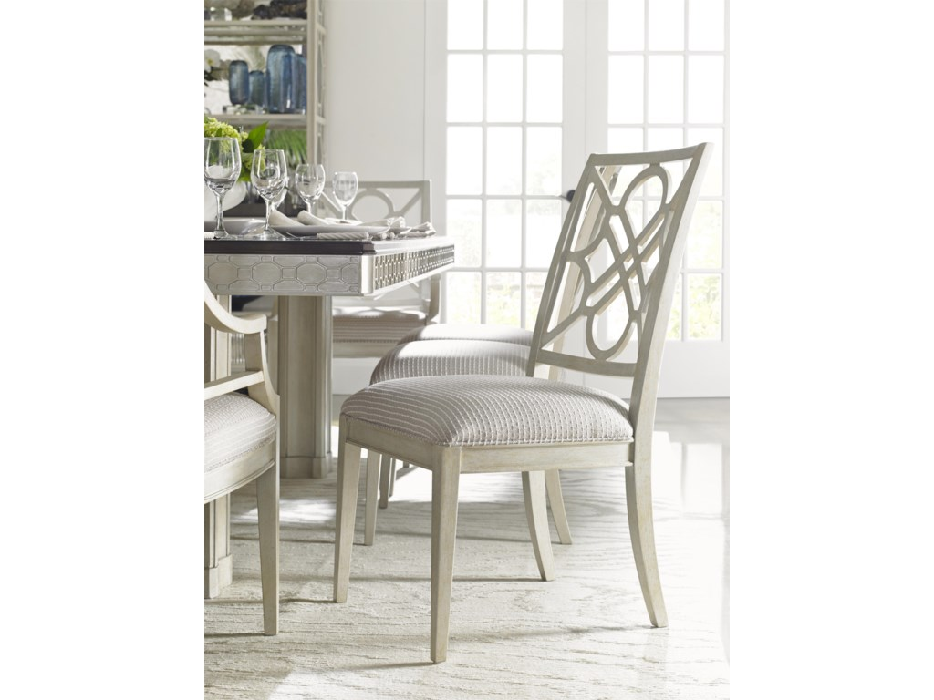 Stanley Furniture Fairlane Wood Side Chair with Lattice Back ...