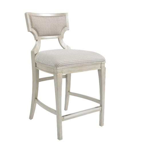 Stanley Furniture Fairlane Counter Stool with Shaped Upholstered Back