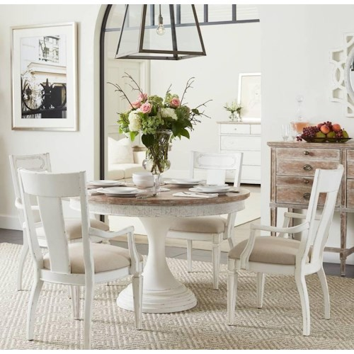 Stanley Furniture Juniper Dell 5-Piece Round Dining Table Set ...