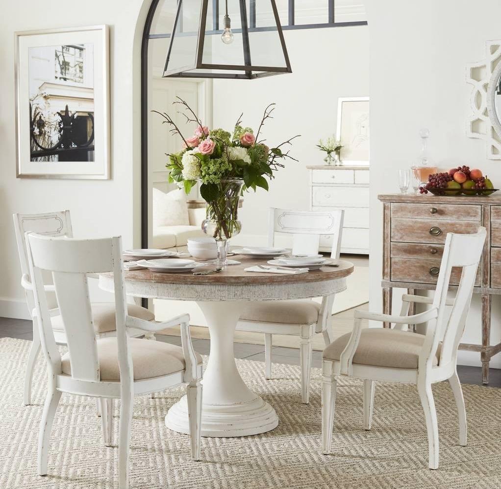 Stanley Furniture Juniper Dell5 Piece Round Dining Table Set ...