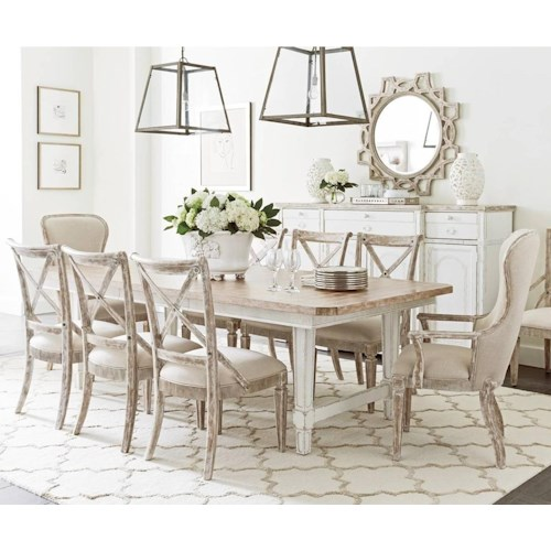 stanley furniture juniper dell 9 piece dining table set - Stanley Furniture Dining Room Set