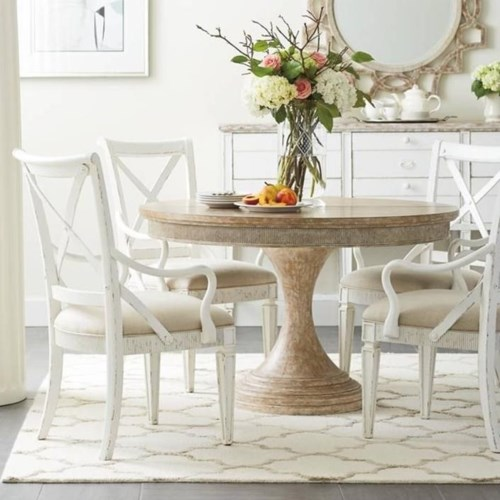 Stanley Dining Room | Stanley Furniture Juniper Dell 5 Piece Round Dining Table Set