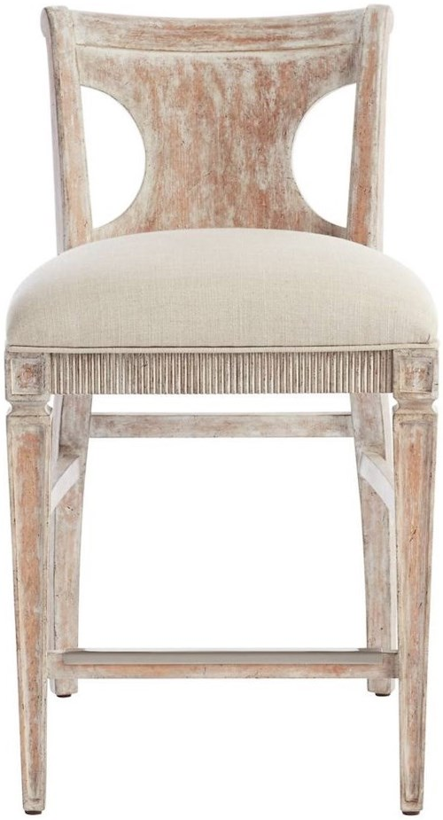 Stanley Furniture Juniper Dell Counter Stool with Upholstered Seat