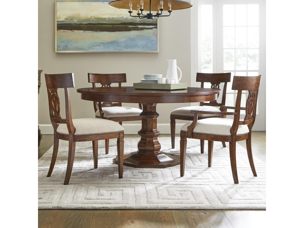 Stanley Furniture Old Town5-Piece 54 Inch Round Dining Table Set