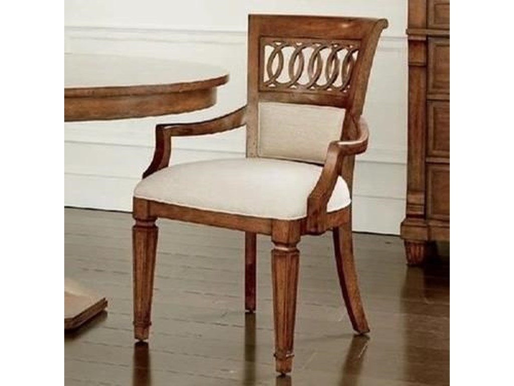 Stanley Furniture Old TownUpholstered Back Arm Chair