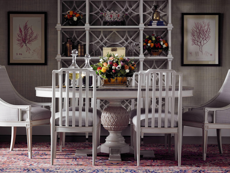Stanley Furniture Preserve7 Piece Artichoke Pedestal Table Set