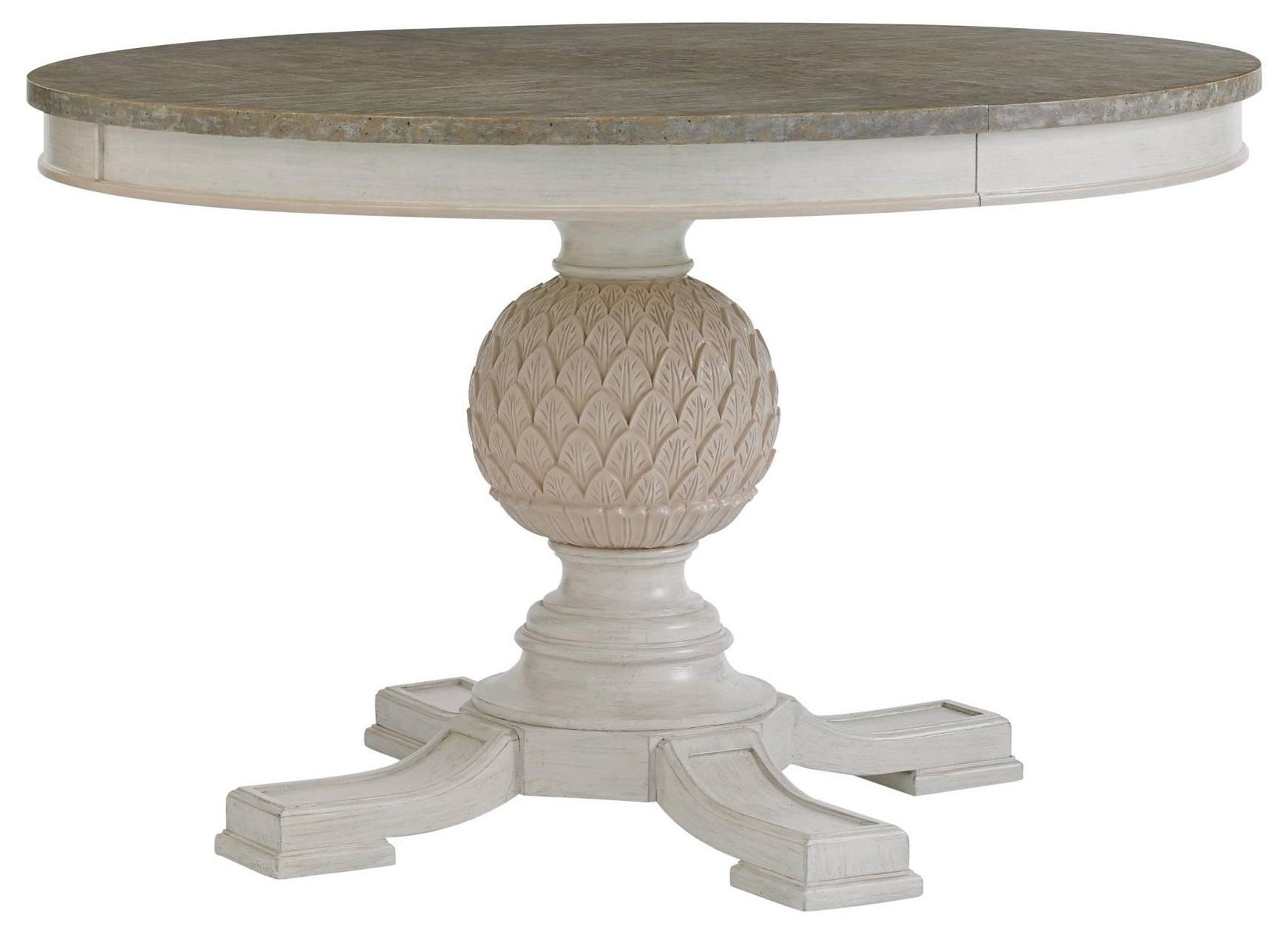 Stanley Furniture Preserve Artichoke Pedestal Table With Leaf