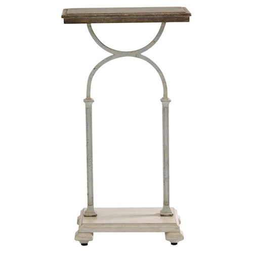 Stanley Furniture Preserve Kelley Martini Table with Metal Base and Aged Wood Top
