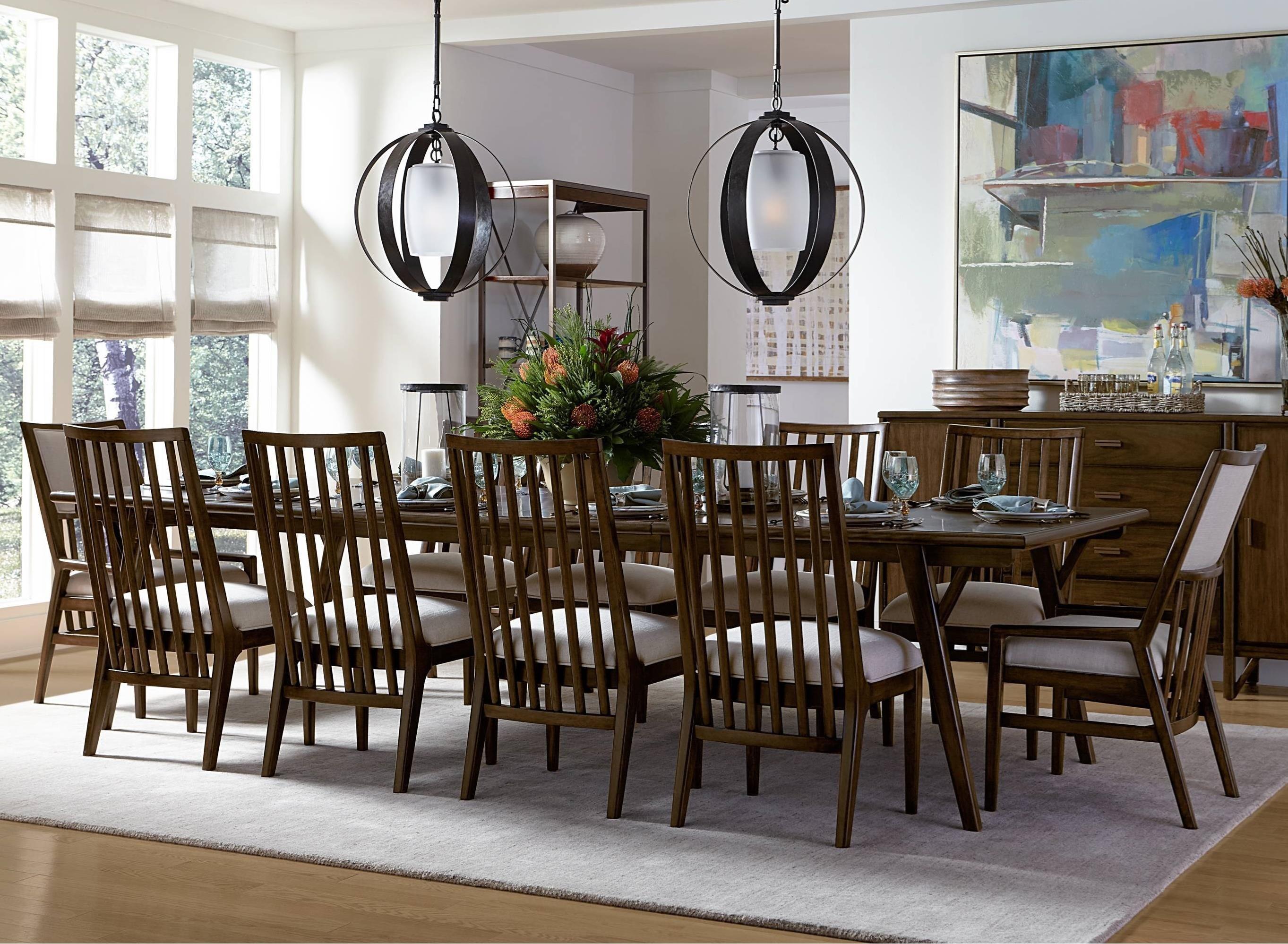 Stanley Furniture Santa Clara 11 Piece Rectangular Dining Table Set   Belfort  Furniture   Dining 7 (or More) Piece Sets