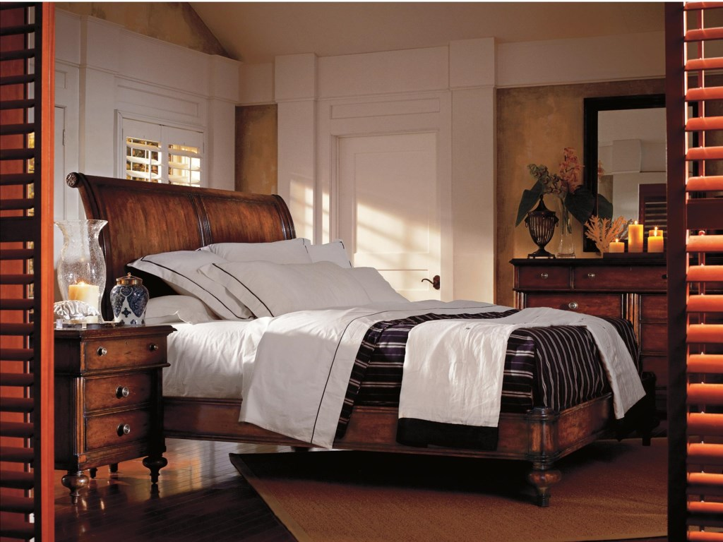 Shown with Landscape Mirror, Dresser and Sleigh Bed