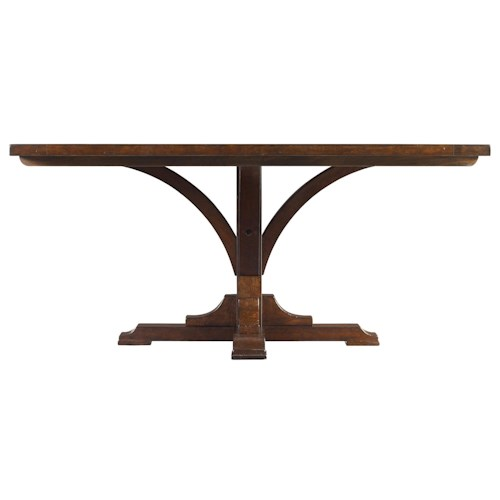 Stanley Furniture The Classic Portfolio Artisan Classic Single Pedestal Table with Distressed Wood