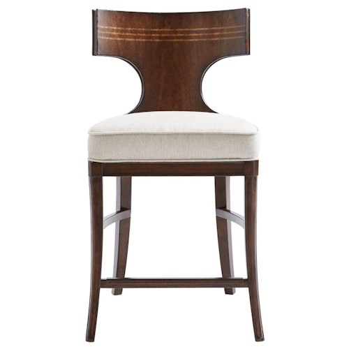 Stanley Furniture Villa Couture Dario Counter Stool with Maple Inlay