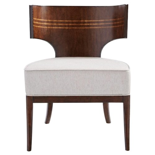 Stanley Furniture Villa Couture Dario Accent Chair with Walnut Veneer and Maple Inlay