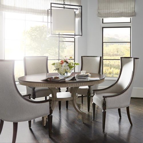 Stanley Furniture Villa Couture 5-Piece Ana Round Table Set with Matteo Host Chairs