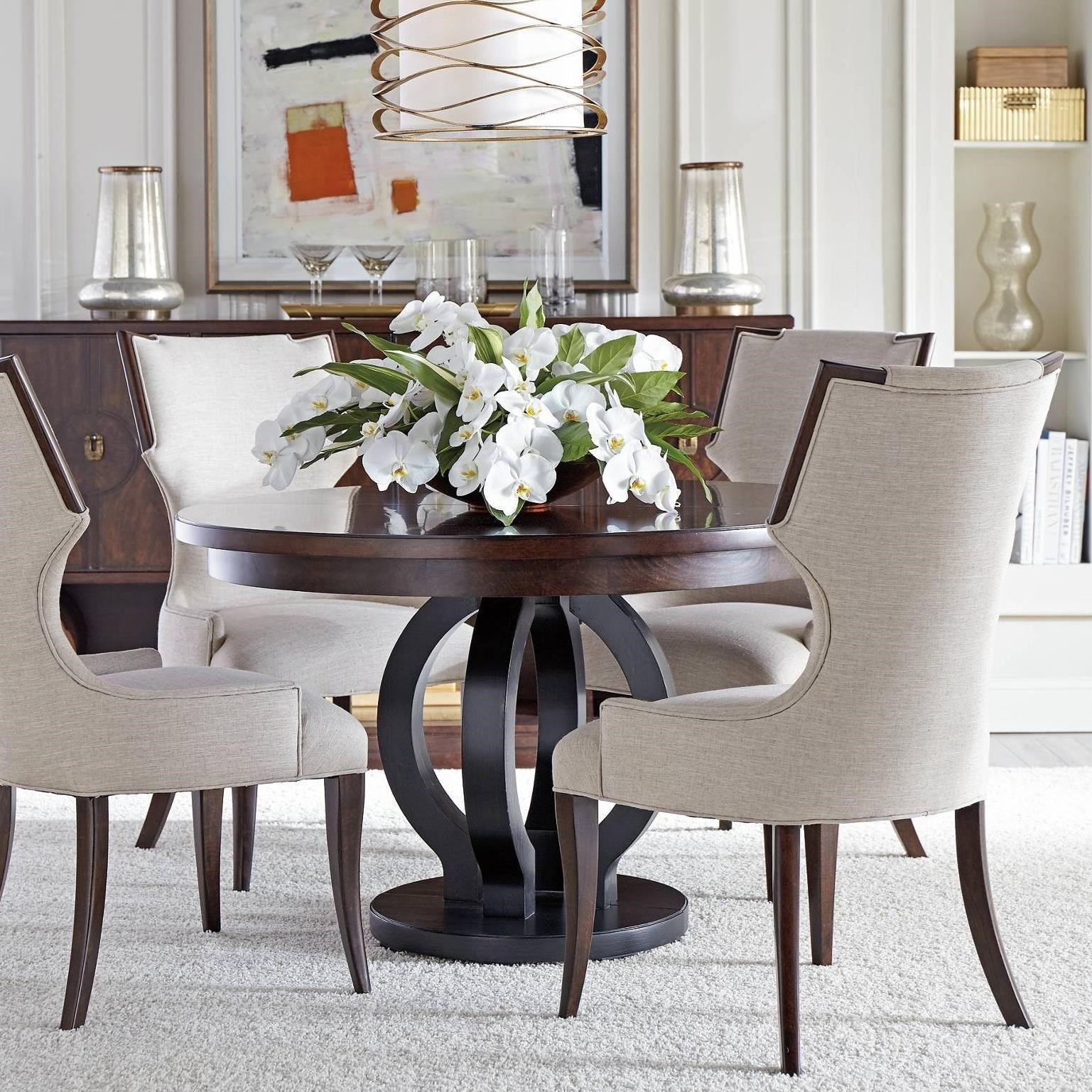 round dining table and chairs. Stanley Furniture Virage5-Piece Round Dining Table Set And Chairs E