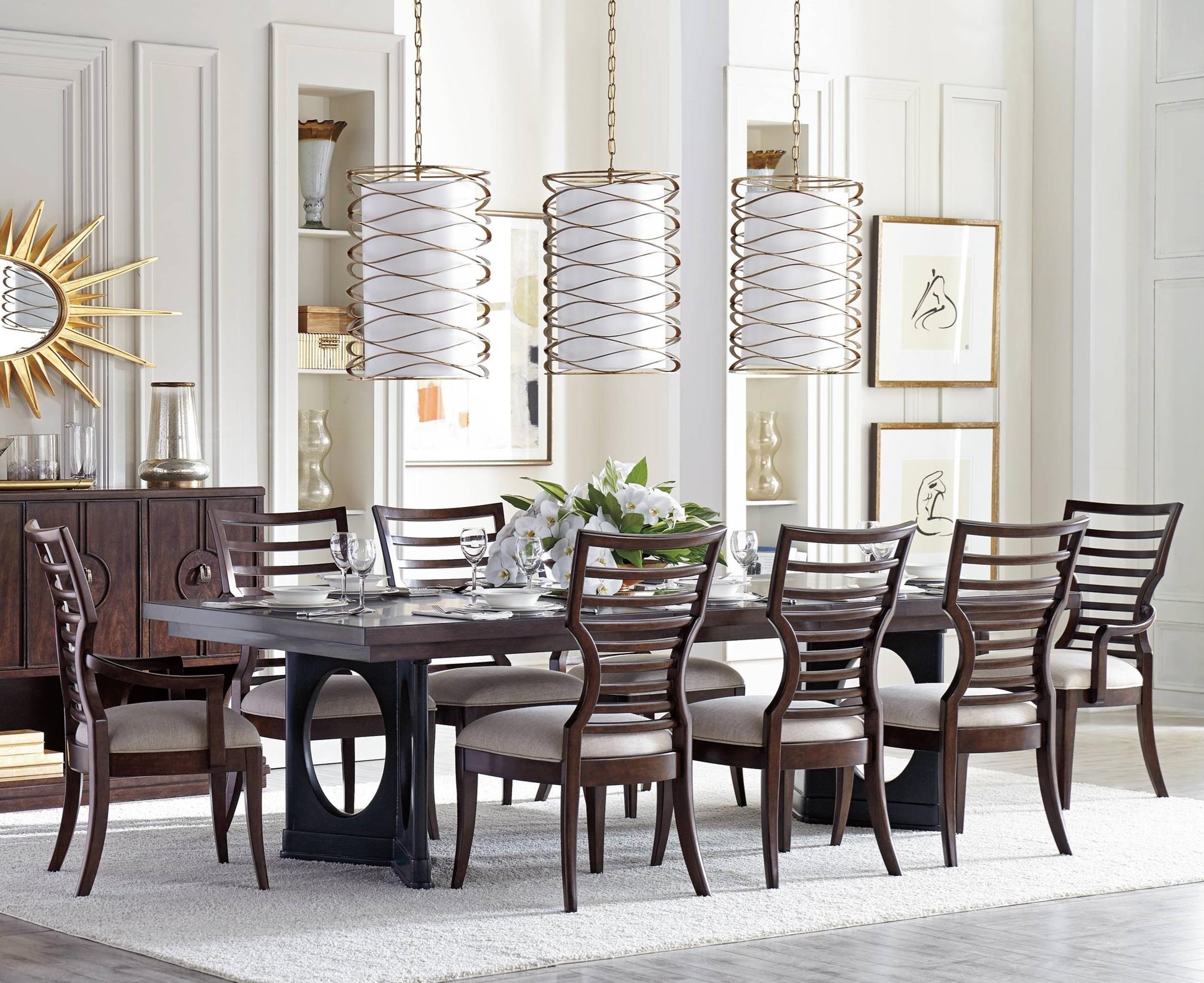 Stanley Furniture Virage9 Piece Double Pedestal Dining Table Set ...