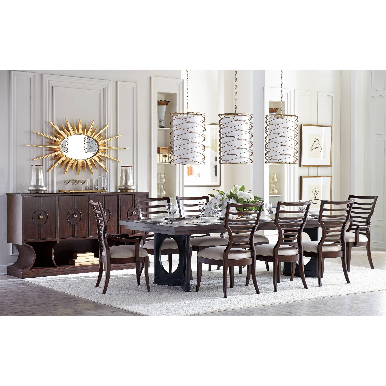 ... Stanley Furniture Virage9 Piece Double Pedestal Dining Table Set