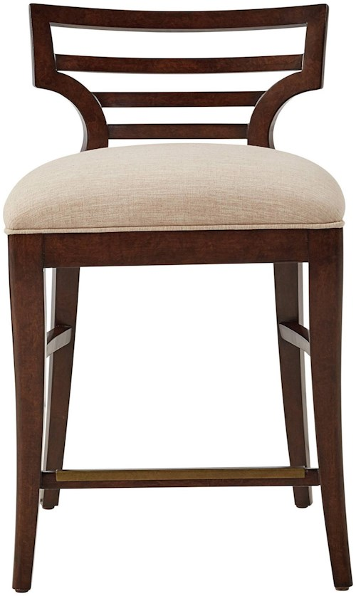 Stanley Furniture Virage Counter Stool with Upholstered Seat