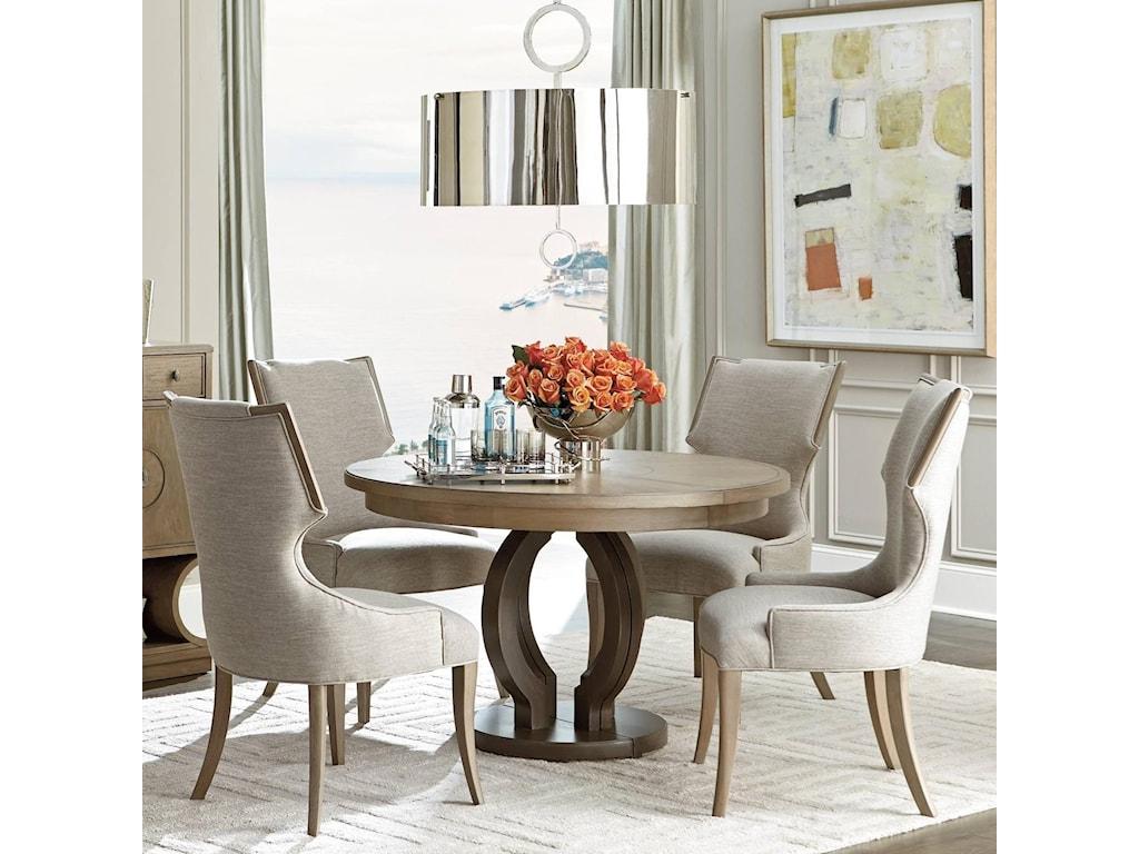 Stanley Furniture Virage5 Piece Round Dining Table Set