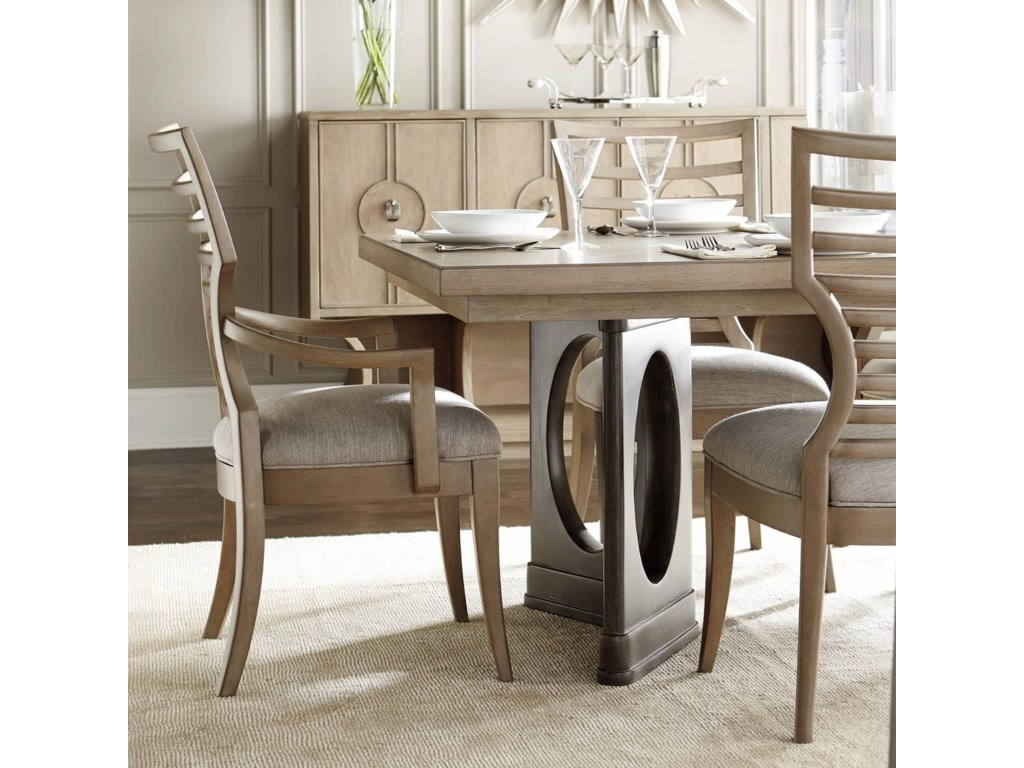 Stanley Furniture Virage 9 Piece Double Pedestal Dining Table Set Dunk Bright 7 Or More Sets