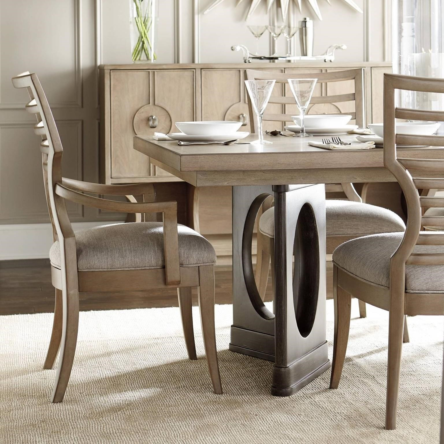 Stanley Furniture Virage9 Piece Double Pedestal Dining Table Set ...