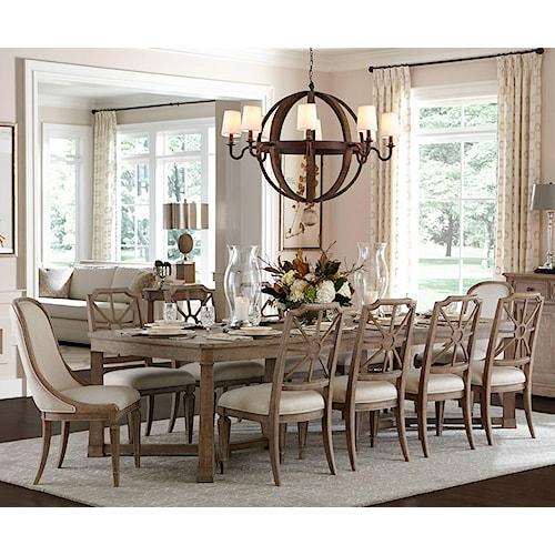 stanley furniture wethersfield estate 11 piece rectangular dining table set. beautiful ideas. Home Design Ideas