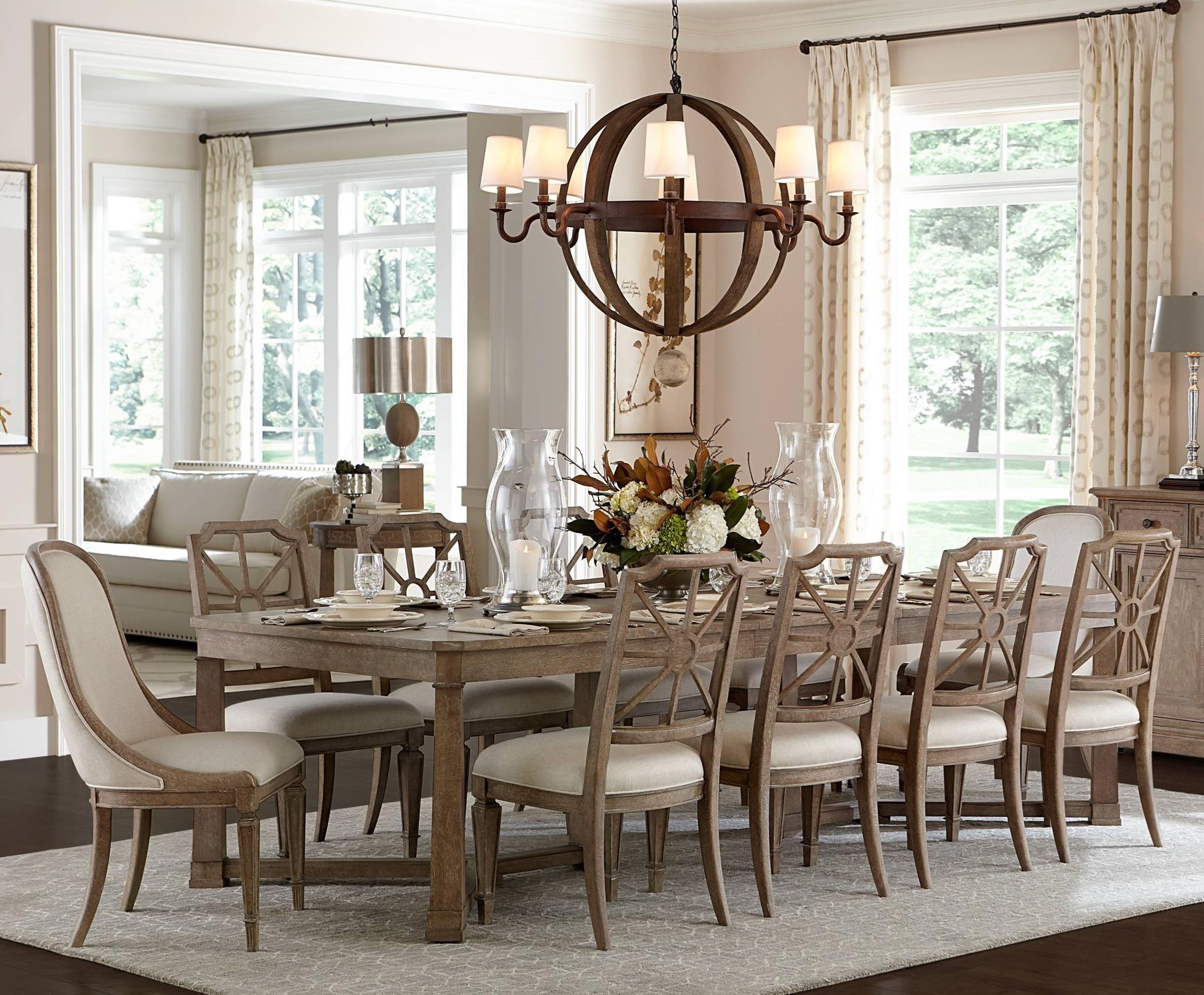 Superbe Stanley Furniture Wethersfield Estate11 Piece Rectangular Dining Table Set  ...