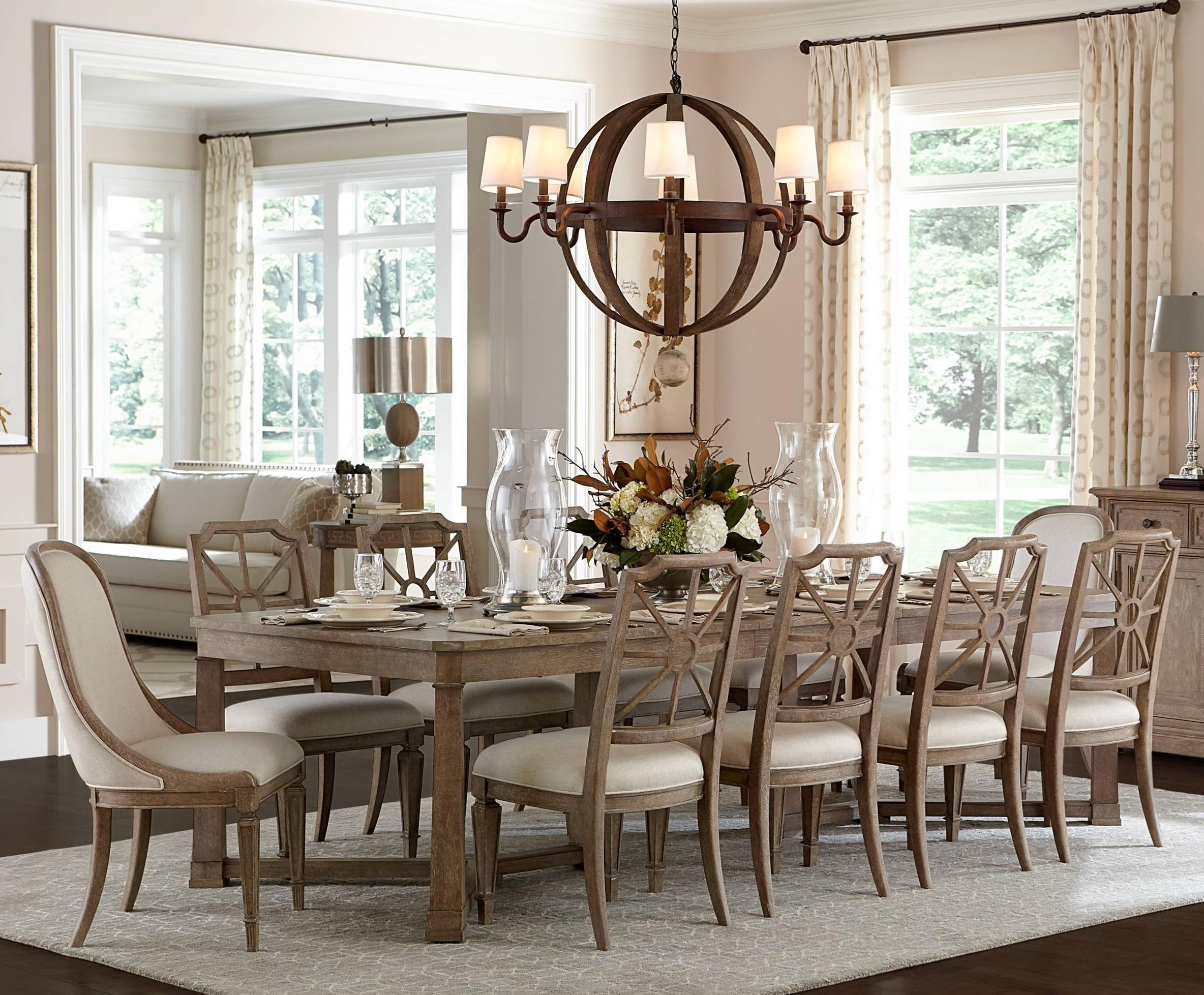 Stanley Furniture Wethersfield Estate11 Piece Rectangular Dining Table Set  ...